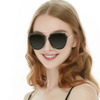 New frameless metal large frame sunglasses  women fashion sunglasses Ocean color lens sunglasses